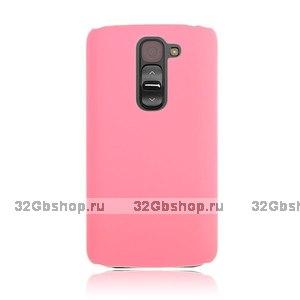 Розовый пластиковый чехол для LG G2 mini - Rubberized Plastic Cover - Pink