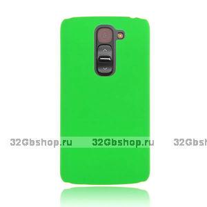 Зеленый пластиковый чехол для LG G2 mini - Rubberized Plastic Cover - Green