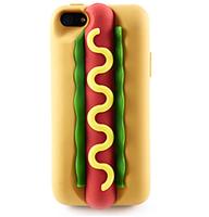 Чехол накладка для iPhone 5s / SE / 5 силикон ХОТ ДОГ hotdog