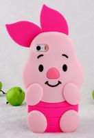 Чехол накладка для iPhone 5s / SE / 5 силиконовый поросенок