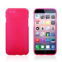 Тонкий силиконовый чехол для iPhone 6 / 6s розовый - Thin TPU Silicone Case Pink