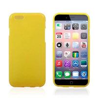 Тонкий силиконовый чехол для iPhone 6 / 6s желтый - Thin TPU Silicone Case Yellow