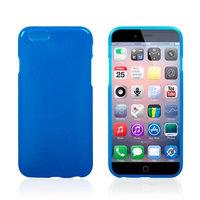 Тонкий силиконовый чехол для iPhone 6 / 6s синий - Thin TPU Silicone Case Blue