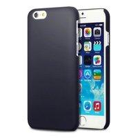 Накладка пластиковый чехол для iPhone 6 / 6s черный - Soft Touch Plastic Case Blue