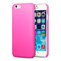 Накладка пластиковый чехол для iPhone 6 / 6s розовый - Soft Touch Plastic Case Pink