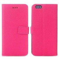 Розовый чехол книжка для iPhone 6 / 6s с отделением для карточек  - Cards Slot Wallet Case Pink