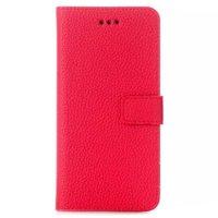 Красный чехол книжка для iPhone 6 / 6s с отделением для карточек - Cards Slot Wallet Case Red