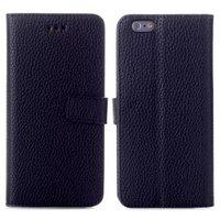 Черный чехол книжка для iPhone 6 / 6s с отделением для карточек - Cards Slot Wallet Case Black