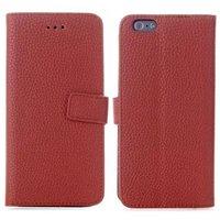 Коричневый чехол книжка для iPhone 6 / 6s с отделением для карточек - Cards Slot Wallet Case Brown