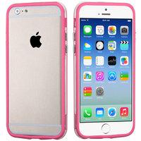 """Бампер для iPhone 6 (4.7"""") розовый с прозрачной полосой"""