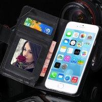 Чехол кошелек для iPhone 6 / 6s air черный - Card Slot & Wallet Case Black