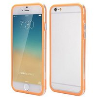 """Бампер для iPhone 6 (4.7"""") оранжевый с прозрачной полосой"""