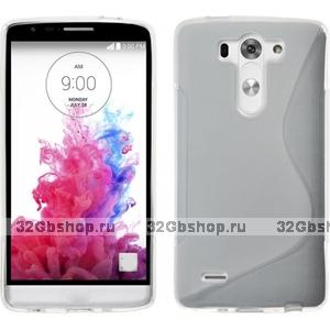 Прозрачный силиконовый чехол S Line Case для LG G3 s / mini
