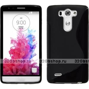 Черный силиконовый чехол S Line Case для LG G3 s / mini