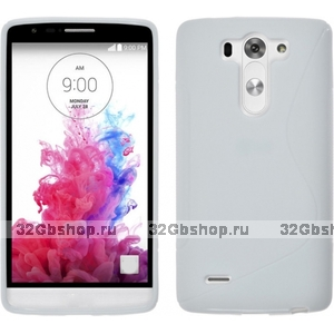 Белый силиконовый чехол S Line Case для LG G3 S / mini