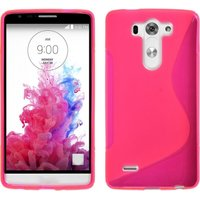 Розовый силиконовый чехол S Line Case для LG G3 s / mini