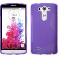 Фиолетовый силиконовый чехол S Line Case для LG G3 s / mini