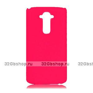 Пластиковый чехол для LG G3 S / mini ярко-розовый - Matte Plastic Case Hot Pink