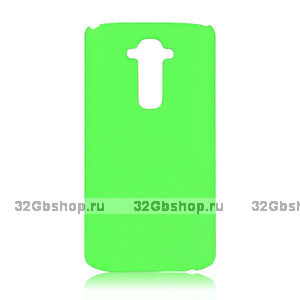 Пластиковый чехол для LG Optimus G3 S / mini зеленый - Matte Plastic Case Green