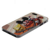 Пластиковый чехол накладка для iPhone 5s / SE / 5 мышь и сыр