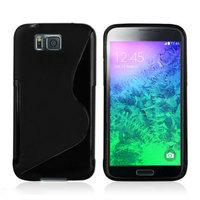Черный силиконовый чехол для Samsung Galaxy Alpha - S Type Silicone Case Black