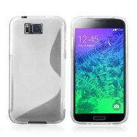 Прозрачный силиконовый чехол для Samsung Galaxy Alpha - S Type Silicone Case Clear