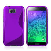 Фиолетовый силиконовый чехол для Samsung Galaxy Alpha - S Type Silicone Case Purple