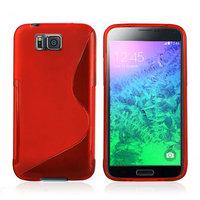 Красный силиконовый чехол для Samsung Galaxy Alpha - S Type Silicone Case Red
