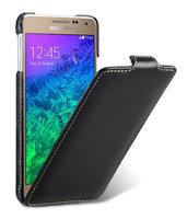 Черный кожаный чехол для Samsung Galaxy Alpha - Melkco Leather Jacka Type Black LC