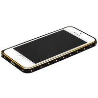 Золотой металлический бампер для iPhone 5s / SE / 5 с черной полосой