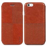 "Кожаный чехол книжка HOCO для iPhone 6 Plus / 6s Plus (5.5"") коричневый - HOCO Crystal Case Brown"