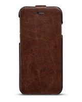 "Кожаный чехол флип HOCO Crystal для iPhone 6 / 6s (4.7"") коричневый - HOCO General Flip Case Wine Brown"