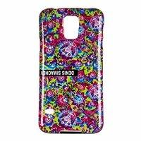 Силиконовый чехол  для Samsung Galaxy S5 i9600 разноцветные цветы