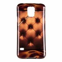 Силиконовый чехол Zilli для Samsung Galaxy S5 i9600с рисунком бронзовая стеганая кожа