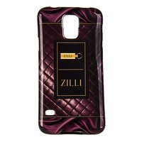 Силиконовый чехол Zilli для Samsung Galaxy S5 i9600 с рисунком бордовая стеганая кожа