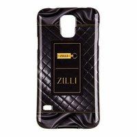 Силиконовый чехол Zilli для Samsung Galaxy S5 i9600 с рисунком черная стеганая кожа