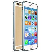 Алюминиевый бампер для iPhone 6 с защелкой серый