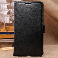 Чехол книжка для Samsung Galaxy Note 4 черный с отделением для карт