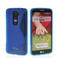 Синий силиконовый чехол S Line Case для LG G2 mini