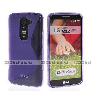 Фиолетовый силиконовый чехол S Line Case для LG G2 mini