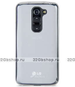 Прозрачный матовый силиконовый чехол для LG G2 mini - Melkco Poly Jacket TPU for LG Optimus G2 Mini D610 / D620 - (Transparent Mat)
