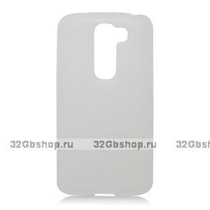 Силиконовый чехол для LG G2 mini D618 белый матовый