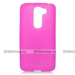 Силиконовый чехол для LG G2 mini D618 розовый матовый