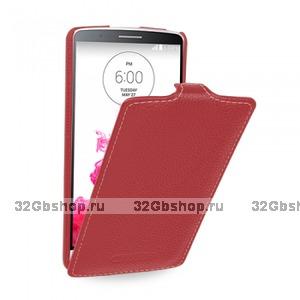 Красный чехол флип Art Case Red Flip Case для LG G3