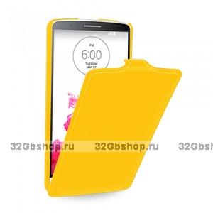 Желтый чехол флип Art Case для LG G3 s
