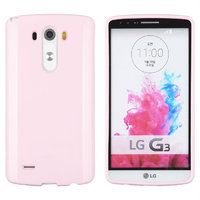 Розовый глянцевый силиконовый чехол для LG G3