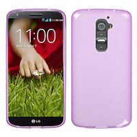 Прозрачный силиконовый чехол чехол для LG G2 mini розовый - Transparent Silicone Cover - Purple