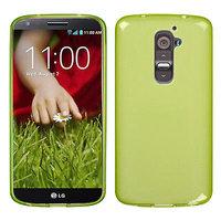 Прозрачный силиконовый чехол чехол для LG G2 mini зеленый - Transparent Silicone Cover - Green