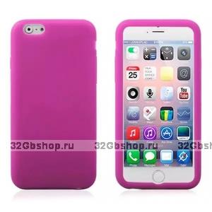 """Розовый матовый силиконовый чехол для iPhone 6 Plus / 6s Plus (5.5"""")"""