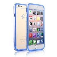 """Пластиковый бампер для iPhone 6 Plus (5.5"""") синий с прозрачной вставкой"""